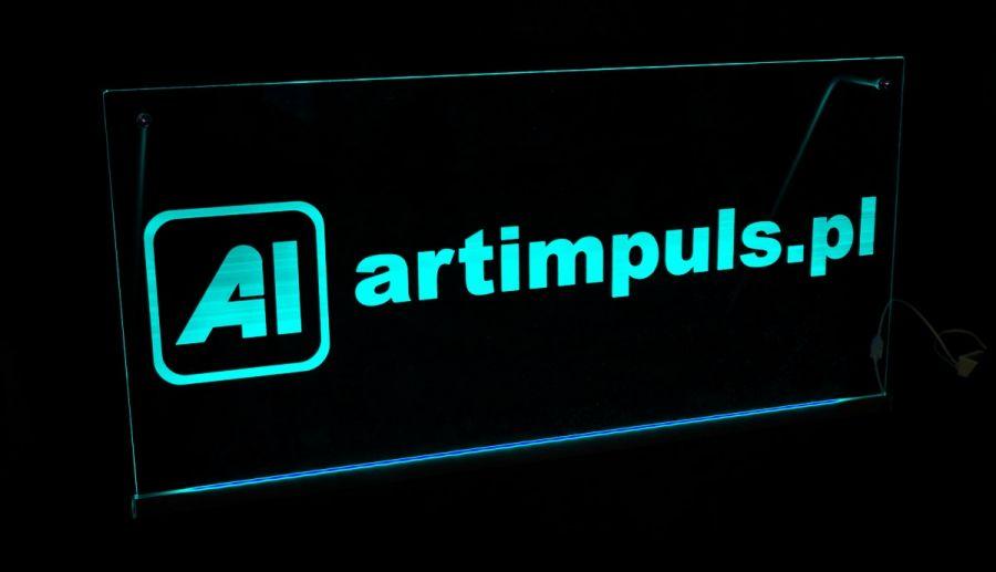 Zaktualizowano Podświetlana tablica reklamowa LED 100x50cm - Art Impuls - wyroby VO78